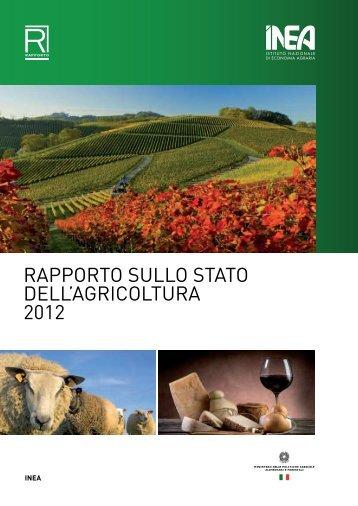 RAPPORTO SULLO STATO DELL'AGRICOLTURA 2012 - Inea