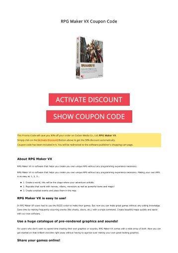 30% OFF RPG Maker VX Coupon Code 2017 Discount OFFER