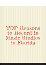 TOP Reasons to Record in Music Studios in Florida