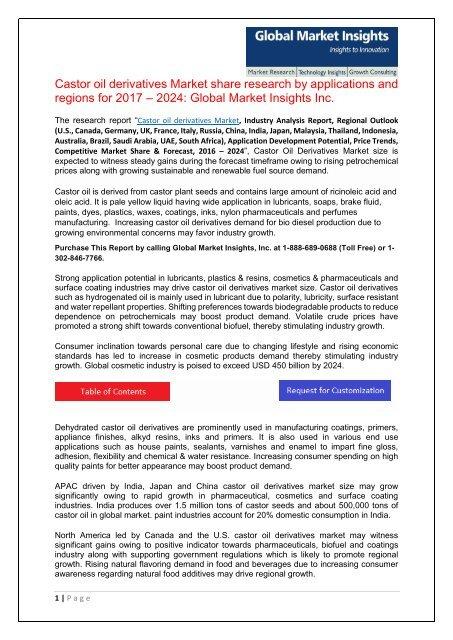 PDF-Castor Oil Derivatives Market