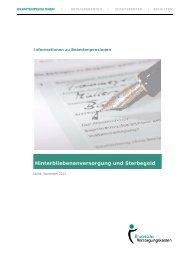 Hinterbliebenenversorgung und Sterbegeld - Rheinische ...