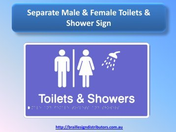 Separate Male & Female Toilets & Shower Sign - Braille Sign Distributors