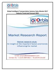 Global Intelligent Transportation Systems Sales Market 2017 Industry Trend and Forecast 2022