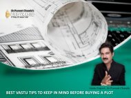 BEST VASTU TIPS TO KEEP IN MIND BEFORE BUYING A PLOT