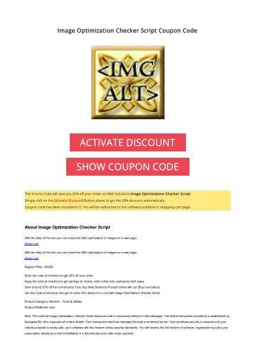 75 off clone files checker coupon code 2017 discount offer 25 off image optimization checker script coupon code 2017 discount offer fandeluxe Images