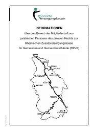 6. Abrechnungsverband II (§ 55) - Rheinische Versorgungskassen