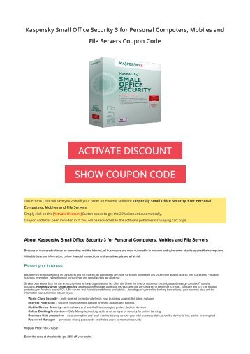 Kaspersky discount coupon 2019