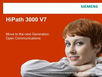 HiPath 3000 V7 - TELE IT COMMUNICATION ApS