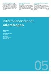 Informationsdienst Altersfragen Heft 05/2004 - Deutsches Zentrum ...