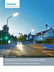 Application Service Providing (ASP) - Siemens Mobility