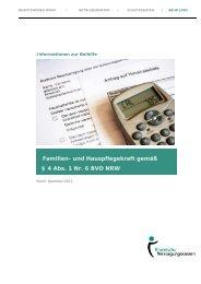 Familien- und Hauspflegekraft gemäß § 4 Abs. 1 Nr. 6 BVO NRW