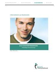 DIE RIESTERFÖRDERUNG - Rheinische Versorgungskassen