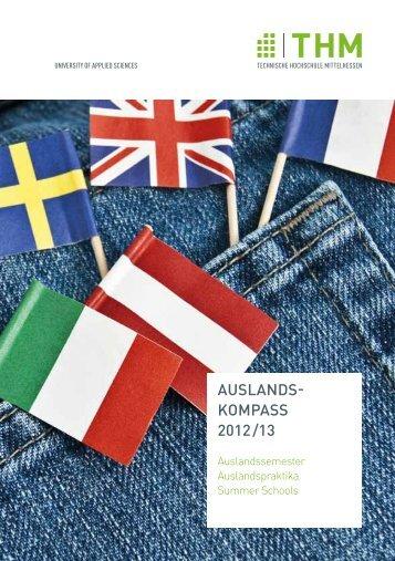 Auslandskompass 2012/2013 - Technische Hochschule Mittelhessen