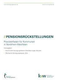 //PENSIONSRÜCKSTELLUNGEN - Rheinische Versorgungskassen