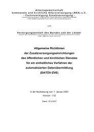 Allgemeine Richtlinien der Zusatzversorgungseinrichtungen des ...