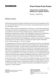 Profil der Siemens-Division Mobility and Logistics