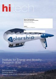 Institute for Energy and Mobility Research (IEM) - hitech - Berner ...