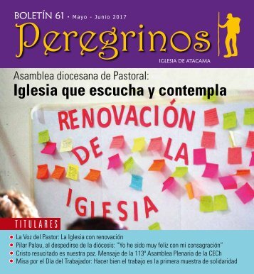 Peregrinos mayo-junio 2017