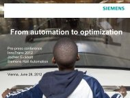 Presentation Dr. Jochen Eickholt: From automation to ... - Siemens