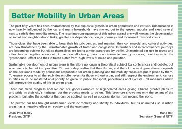 Better Mobility in Urban Areas - UITP