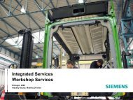 SIEMENS Integrated Services - Presentation ... - Siemens Mobility