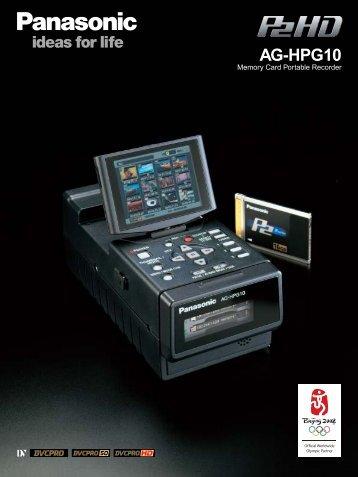 AG-HPG10 - Broadcast and Professional AV Web Site - Panasonic