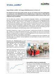 10 Jahre mobilito - Regionalverband Pongau
