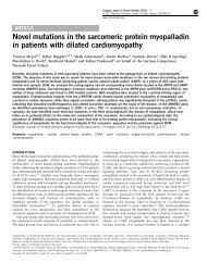 Novel mutations in the sarcomeric protein myopalladin in patients ...