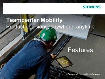 Teamcenter Mobility - Siemens PLM Software
