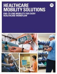 Healthcare Mobility Solutions - Motorola Solutions