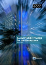Social Mobility Toolkit for the Professions - Equality and Human ...