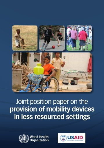 Joint position paper on the provision of mobility devices in less ...