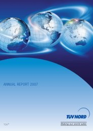 ANNUAL REPORT 2007 - TÜV NORD