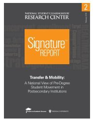 Transfer & Mobility - National Student Clearinghouse Research Center