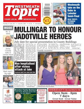 Westmeath Topic - 22 June 2017