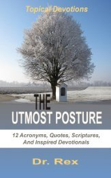 THE UTMOST POSTURE (7)