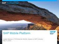 Why Build on the SAP Mobile Platform - SAP Mobile Apps Partner ...
