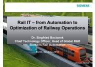 Rail IT – from Automation to Optimization of Railway Operations