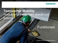 Teamcenter Mobility Product decisions, anywhere, anytime