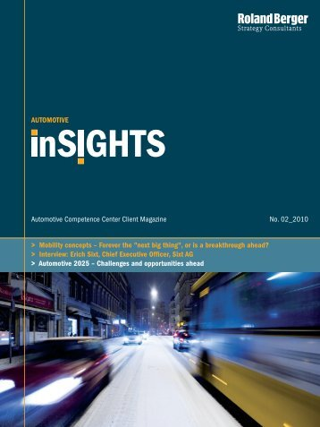"""Automotive inSIGHTS 2/2010"" (PDF, 3784 KB - Roland Berger"