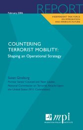 COUNTERING TERRORIST MOBILITY: - Migration Policy Institute