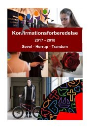 Konfirmationsforberedelse 2017-2018 Sevel Herrup Trandum M2