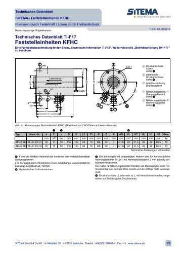 Feststelleinheiten KFHC - SITEMA