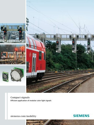 Versatility of modular color light signals - Siemens Mobility