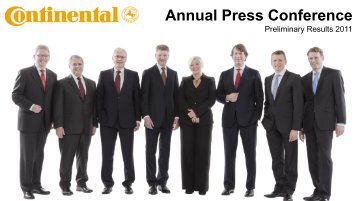 Annual Press Conference - Continental Tyre Group AG