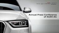 Presentation by Rupert Stadler (9 MB) - Audi