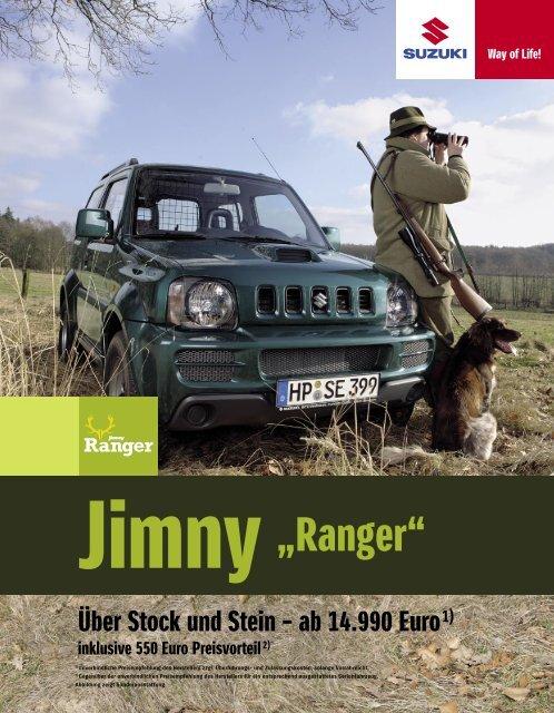 """Technische Daten Jimny Limousine """"Ranger"""" - Suzuki"""