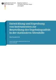 Entwicklung und Erprobung von Instrumenten zur Beurteilung der ...