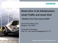 Smart eCar in its Infrastructure smart Traffic and smart Grid
