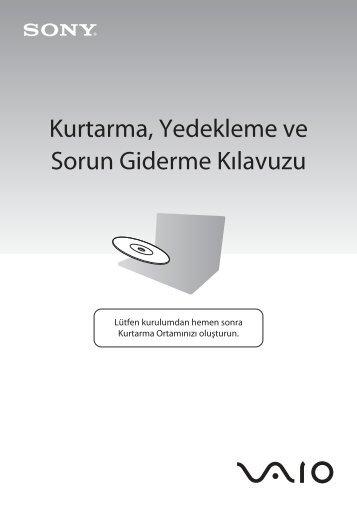 Sony VPCS12F7E - VPCS12F7E Guide de dépannage Turc